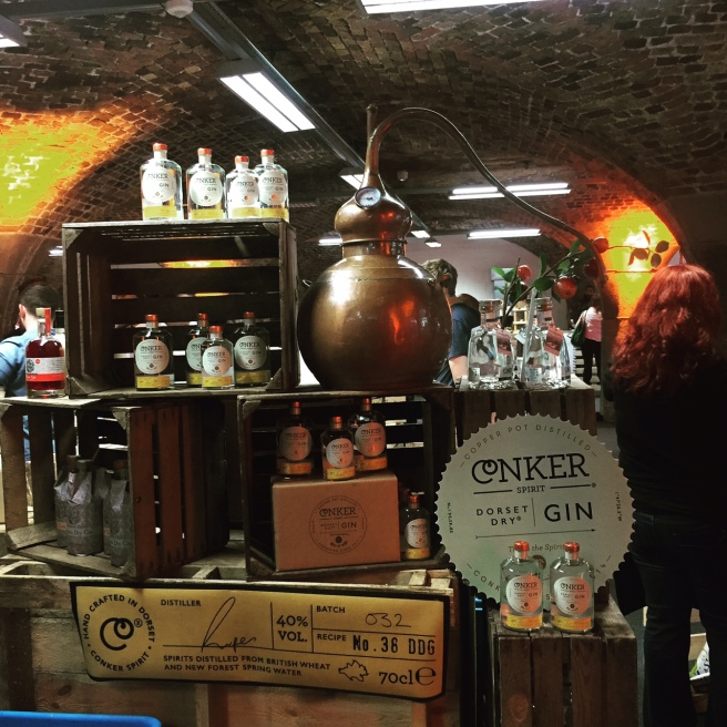 The Conker Gin Stand - great stand, even greater gin